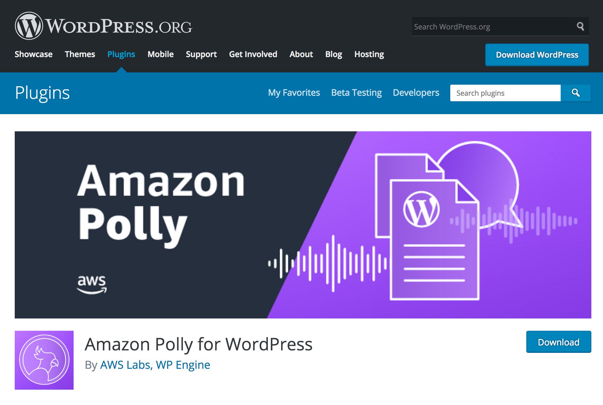 Amazon Polly を WordPress で音声化するための使い方