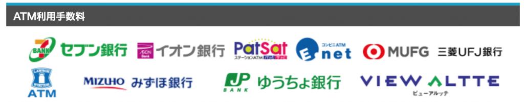 楽天銀行 ATM利用手数料