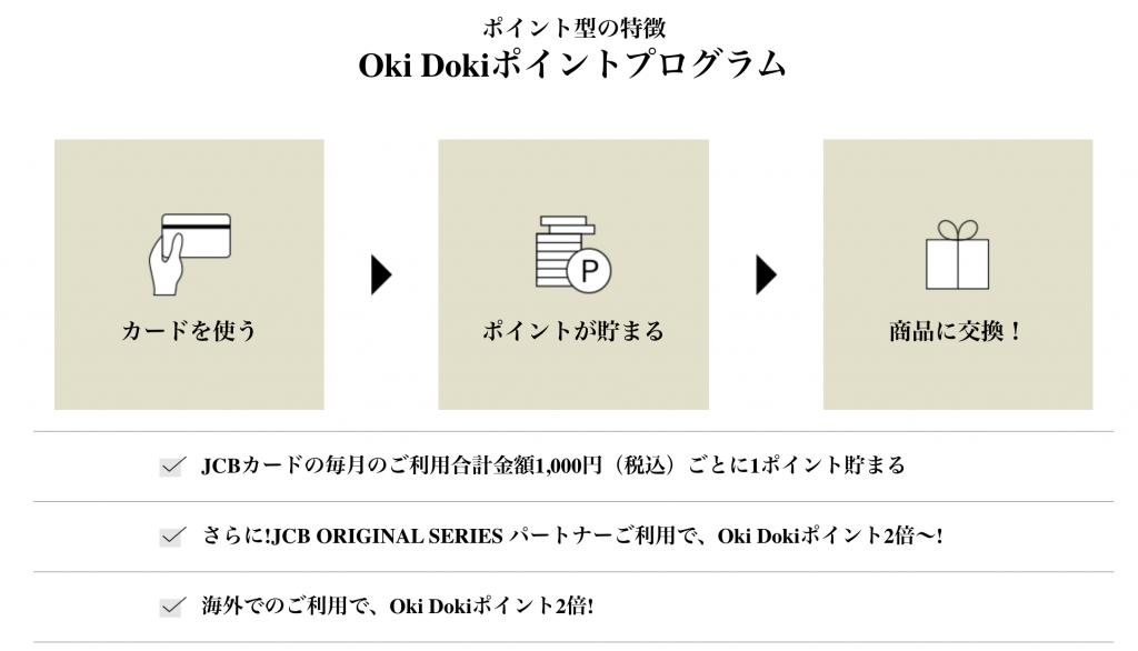 Oki Dokiポイントプログラム