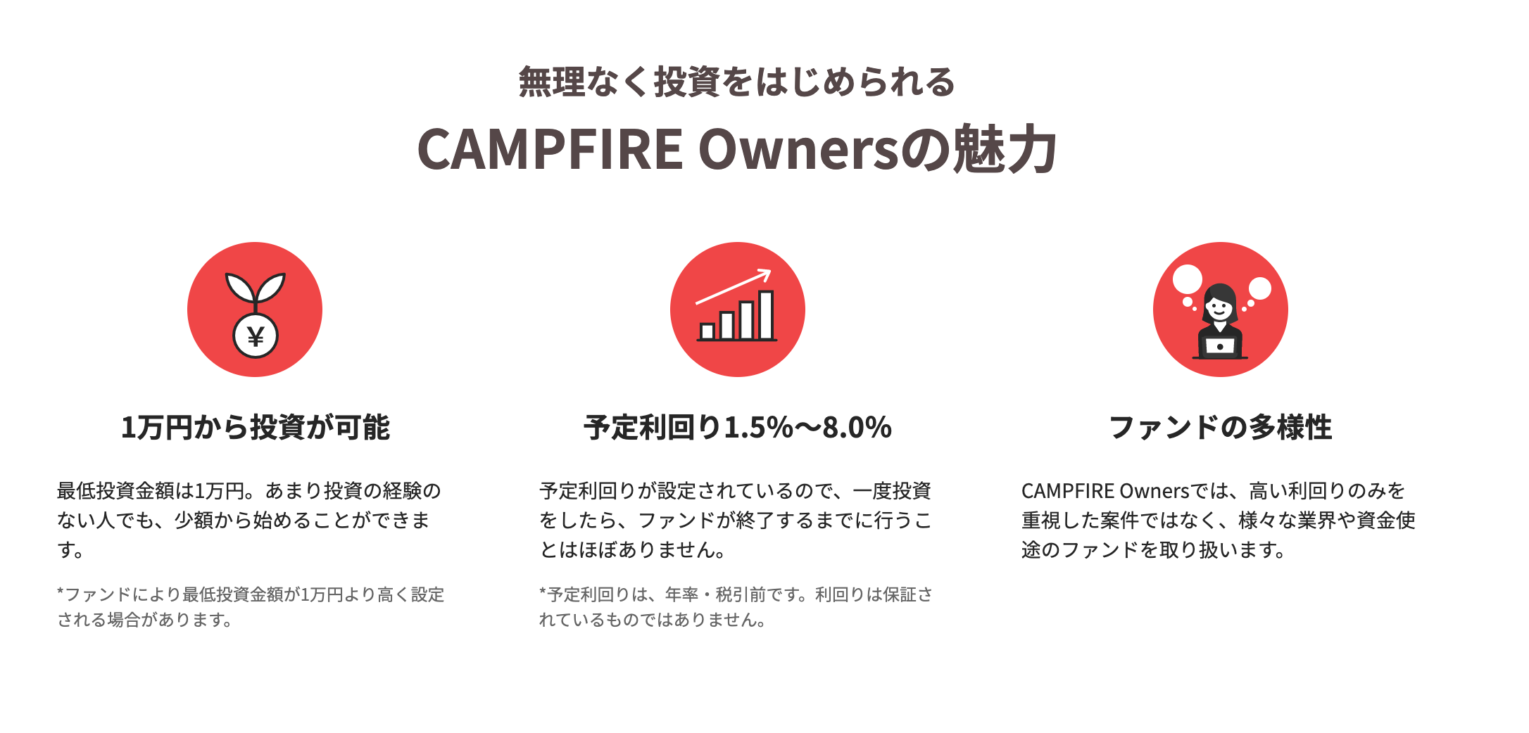 CAMPFIRE Ownersの特徴